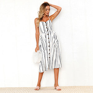 Backless summer dress collection