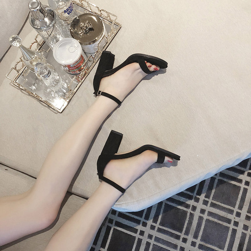 Strap sandals with heels