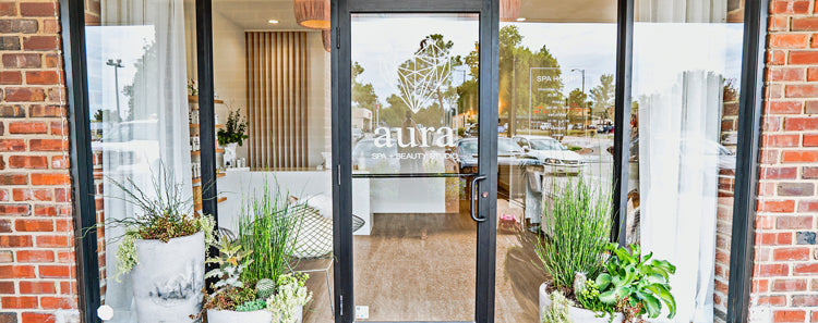 Bella Vici & Aura Spa + Beauty Studio splashed beauty from floor to ceiling with this clean commercial space focused on what else ... beauty!