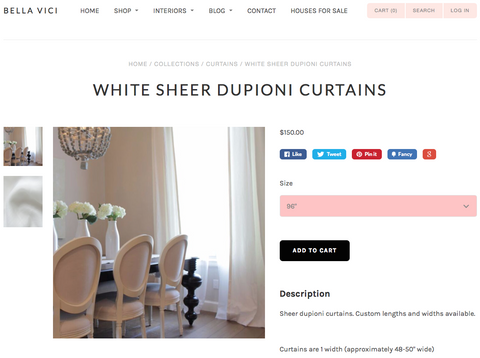 White Sheer Dupioni Curtains