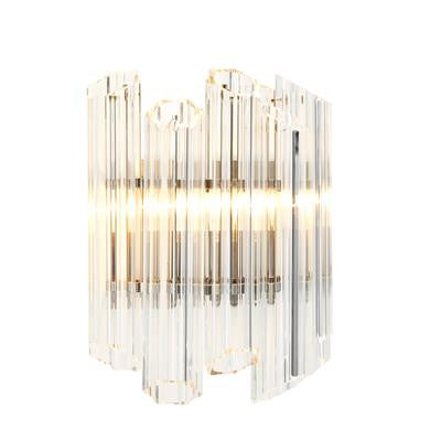 clear glass crystal modern sconce