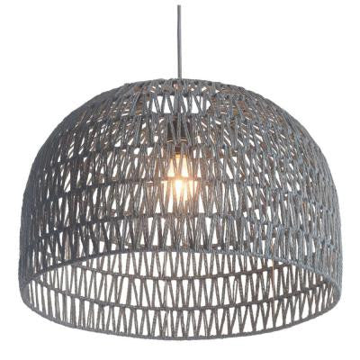 woven light, lighting, pendant, gray light, becki owens,