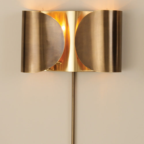 Folded Wall Sconce, Brass
