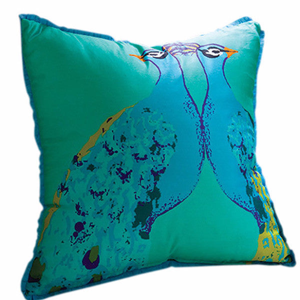 Basset Hall Peacock Pillow