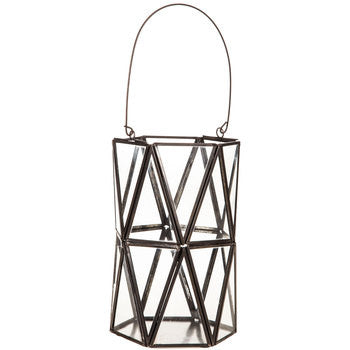 Brown Bronze Geometric Lantern