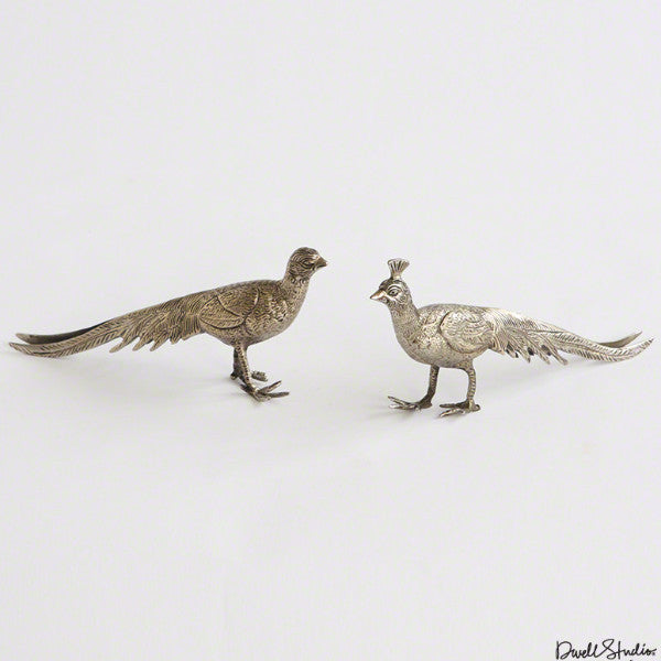 Pair of Metal Peacocks