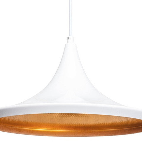 tom dixon light white and gold