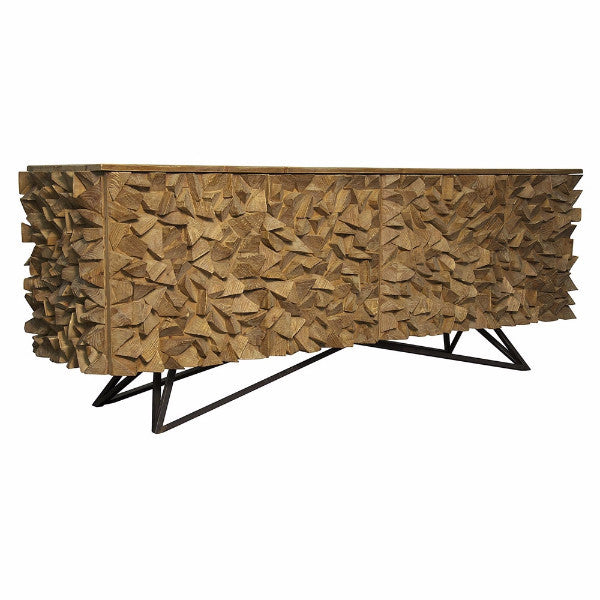 sideboard, dining room storage, console table, textured furniture, modern carved, modern furniture