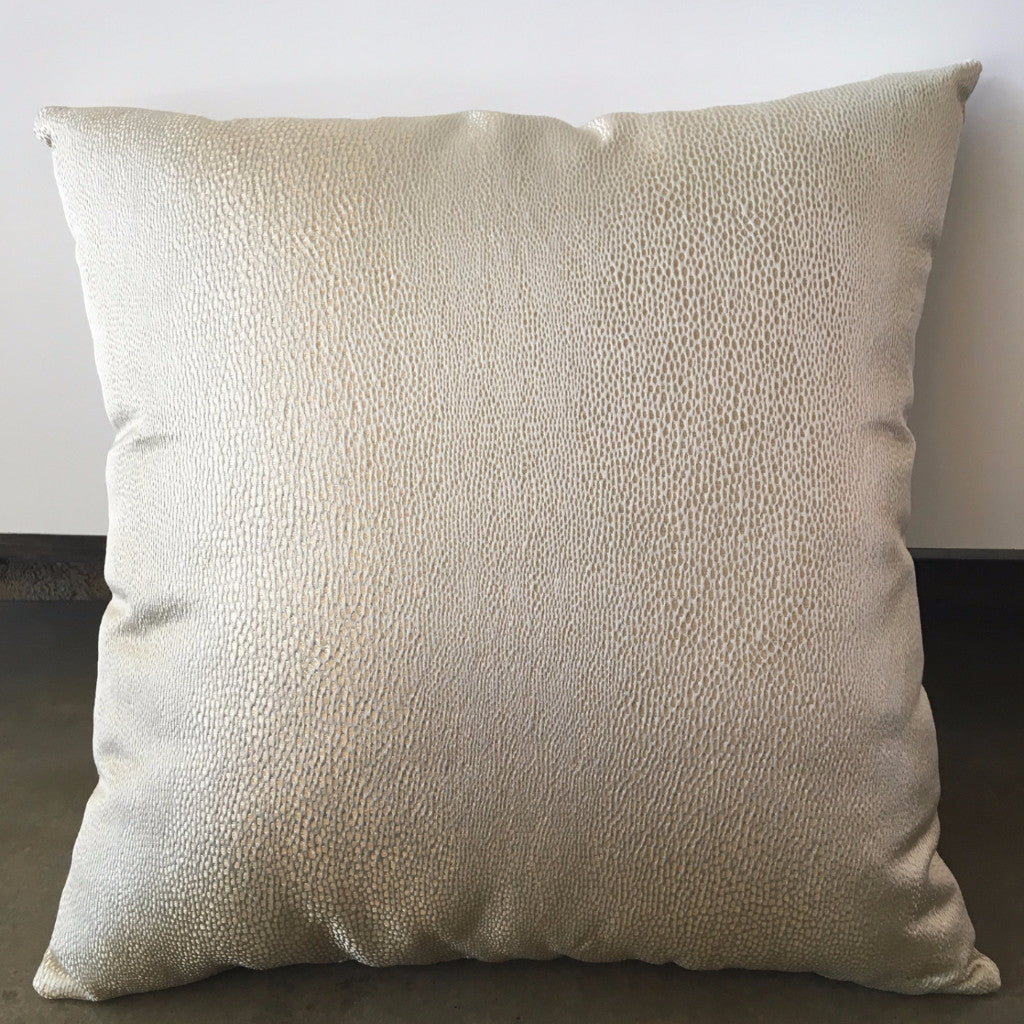 Gold Patterned Pillow