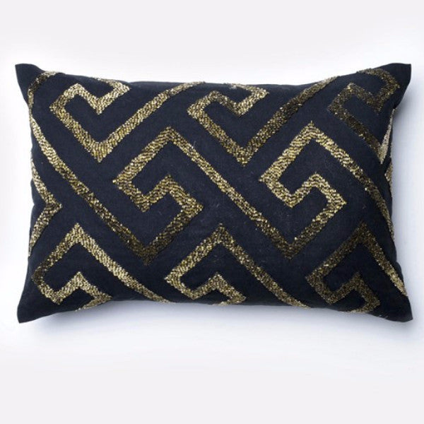 Geometric Beaded Pillow