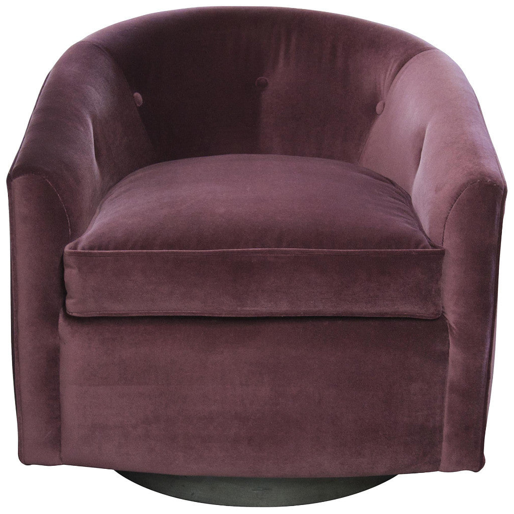 chair, designer chair, purple chair, velvet chair, purple swivel, purple velvet, designer chair, tub chair