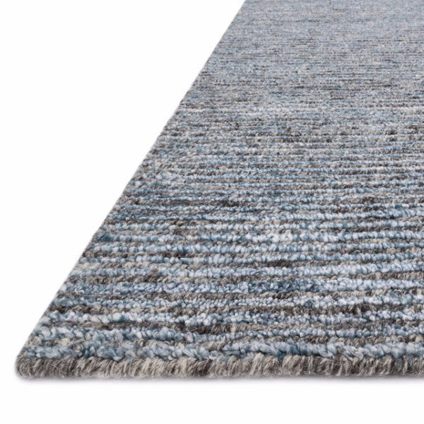 Hand-knotted Wool & Viscose Denim-Colored Rug