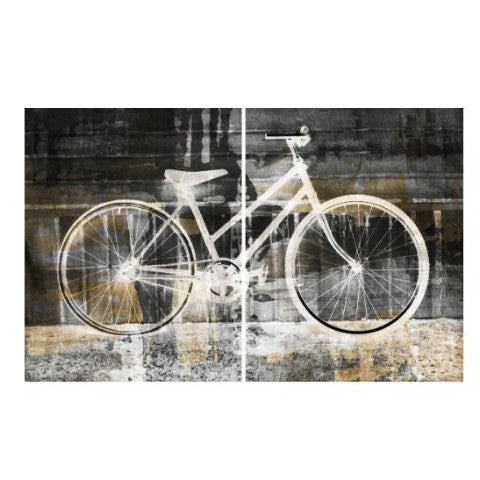 bike art, bicycle art, art, canvas, set