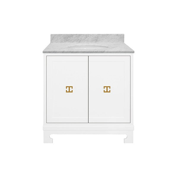 white vanity cabinet, vanity cabinet, bathroom furniture, sink, sink base