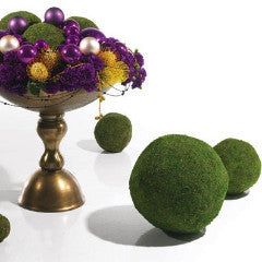 Decorative Moss Spheres - Set Of 5