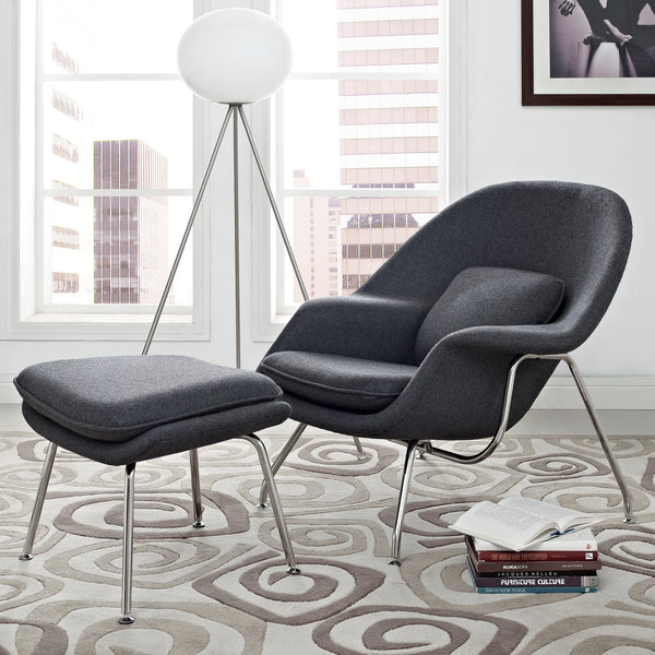 mid century modern reproduction womb chair