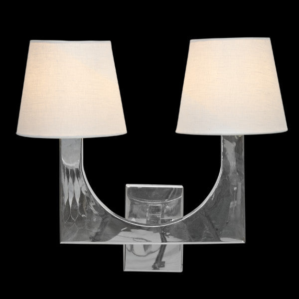 modern chrome sconce