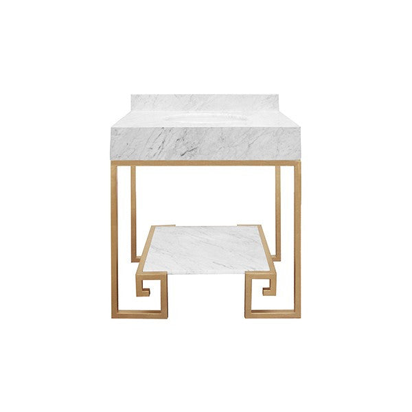 gold and marble modern greek bath vanity