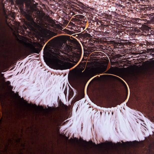 earings, fringe earings, boho, boho jewerly, roost, isla