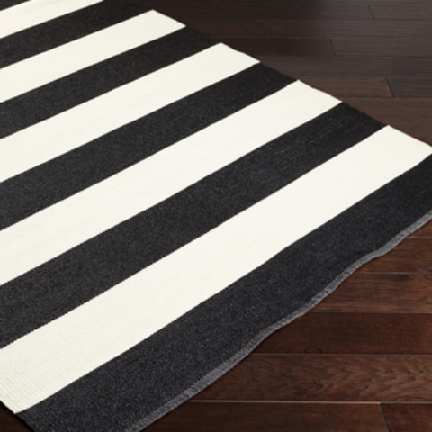 striped rug, black and white rug, black and white striped rug