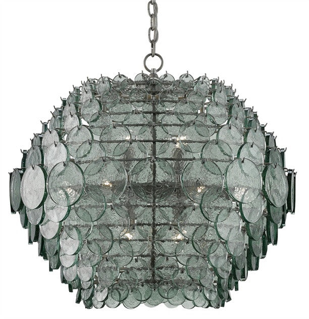 recycled glass hand made chandelier designer
