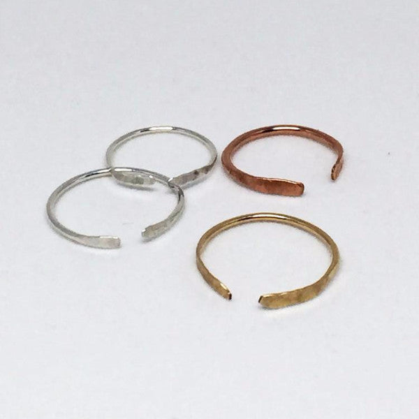 Hand Hammered Stacked Rings