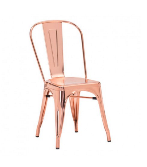 Elio Dining Chair Rose Gold