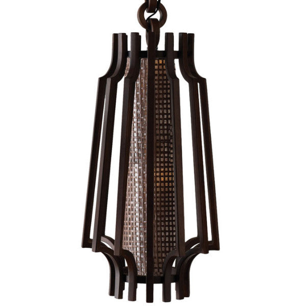 Walnut Hanging Slat Lamp