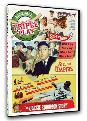Triple Play - Baseball Triple Feature - Safe At Home/Kill The Umpire/The Jackie Robinson Story