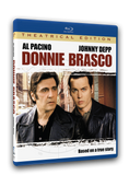 Posing as jewel broker Donnie Brasco, FBI agent Joseph D. Pistone is granted entrance into the violent mob family of aging hit man Lefty Ruggiero. Johnny Depp and Al Pacino star in this epic film, available on Blu-ray.