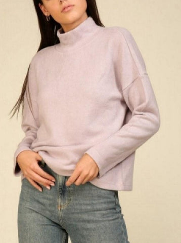 Lavender Turtle Neck Knit Sweater
