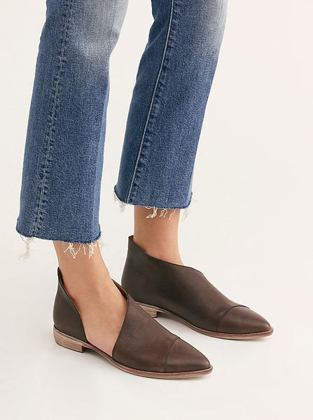 Free People Black Flat Royale