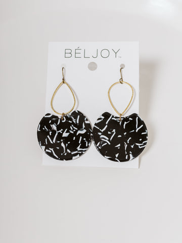 Black Etch Earrings
