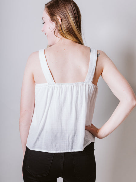 Ivory Tank With Buttons
