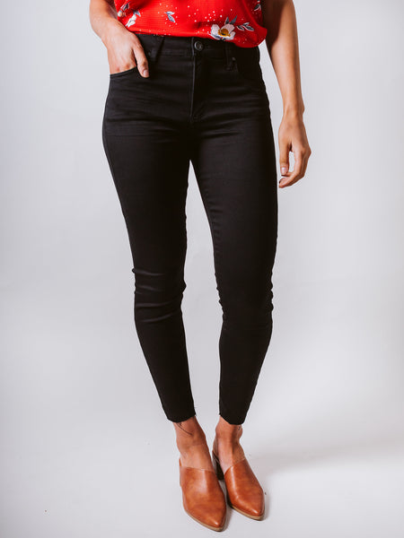 Black Donna High Rise Ankle Skinny