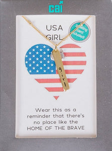 USA State Of Mine Necklace