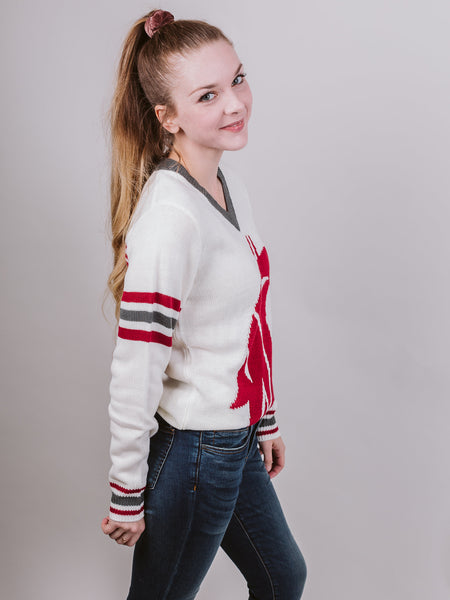 WSU White Sweater