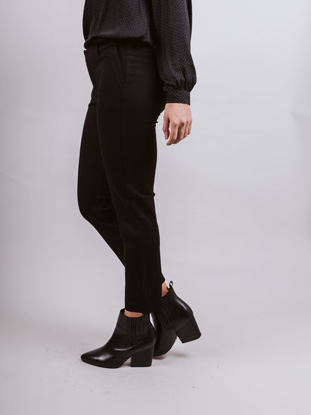 Black Elizabeth Ankle Cigarette Trousers