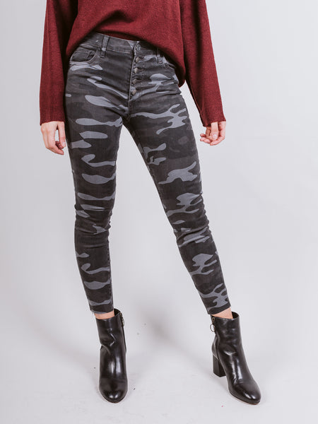 Connie Black & Grey High Rise Skinny