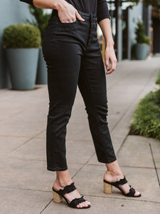 Black Reese Ankle Straight Jean