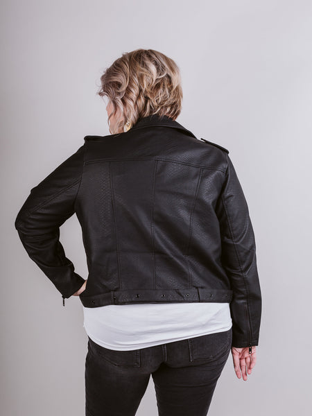 Plus Black Moto Jacket