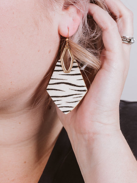 Zebra Princessa Animal Print Earring