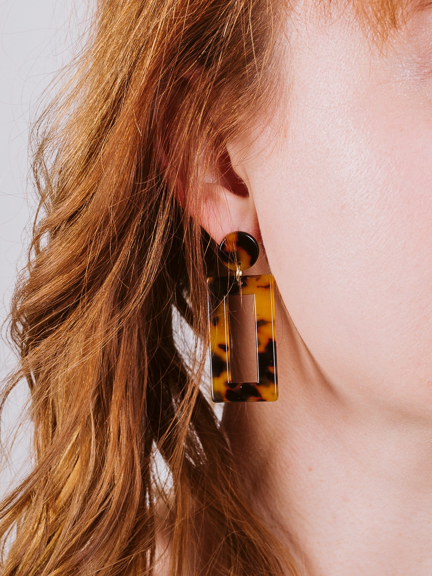Tortoise Framed Dangle Earrings