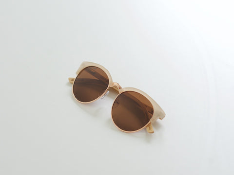 Beige & Rose Gold Marin Glasses