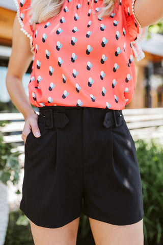 Black Side Tab Shorts