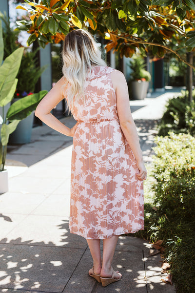 Light Pink Midi Woven Dress