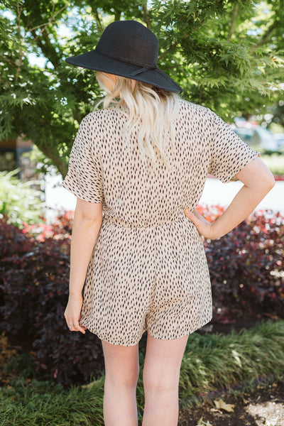 Natural Combo Short Sleeve Romper