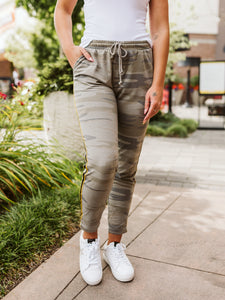 Camo Light Sage Sporty Jogger