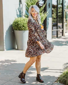 Peach Animal Print Dress
