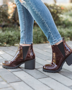 Oxblood Lisbon Patent Boot